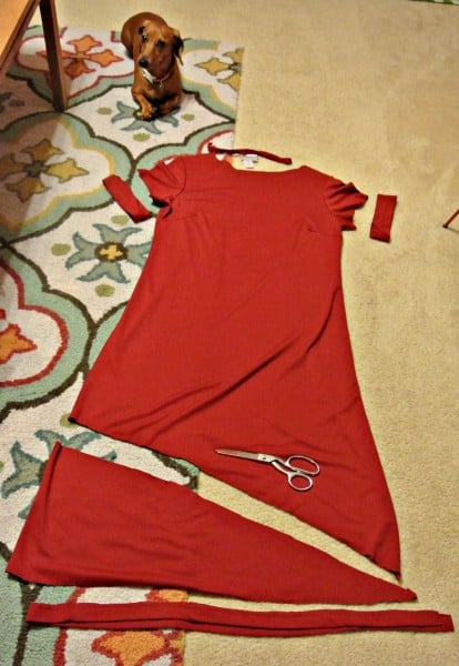 creating no sew refashioned dress