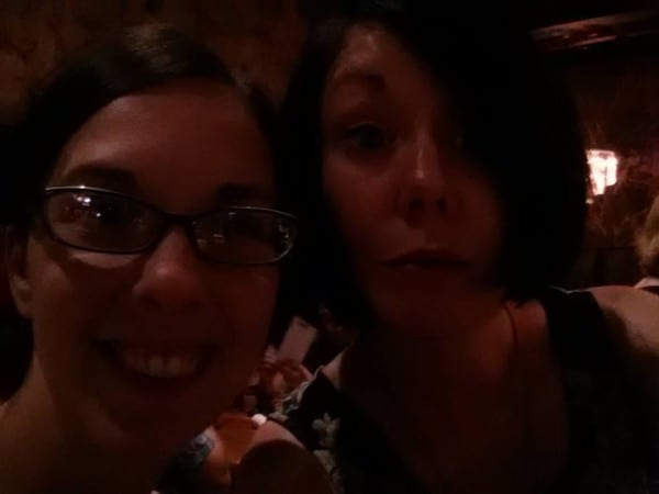 Post-art crawl drinks at Bourbon!