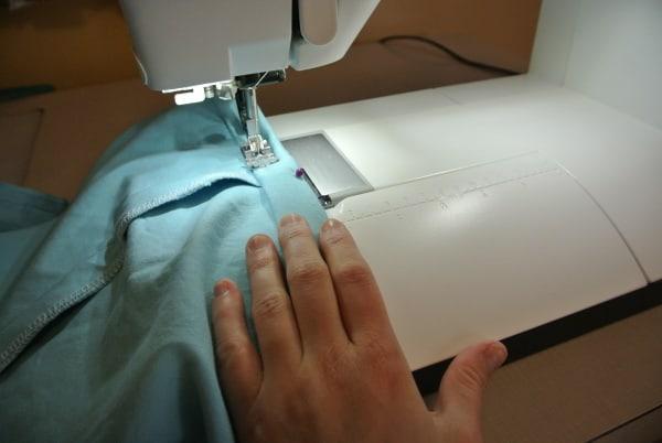 Sewing new hem on dress