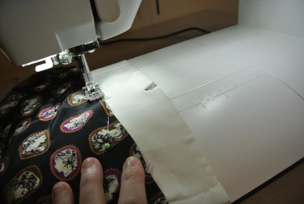 stitching cuff to lapel