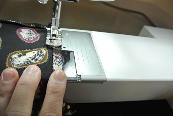 hemming raw edge