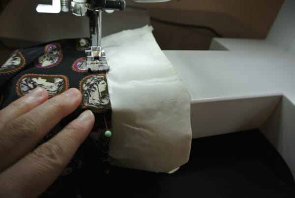 sewing down cuff