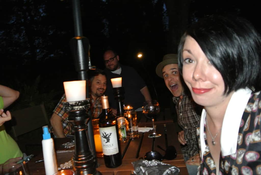 jillian and friends at table