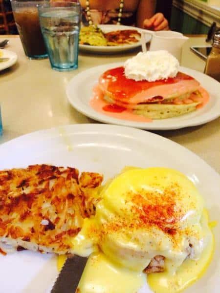 Mmmmmn…Guava Pancakes and Mahi Eggs Benedict!