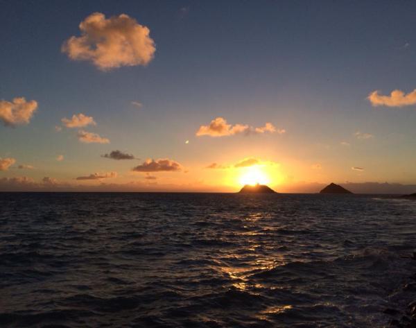 view of ocean from Hawaiian rental home