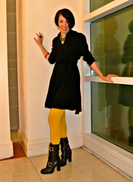 Protip:  Wear bright tights to give your outfit a bit of pizzazz!