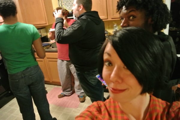 Marques takes photobombing to a ninja-like level! :)