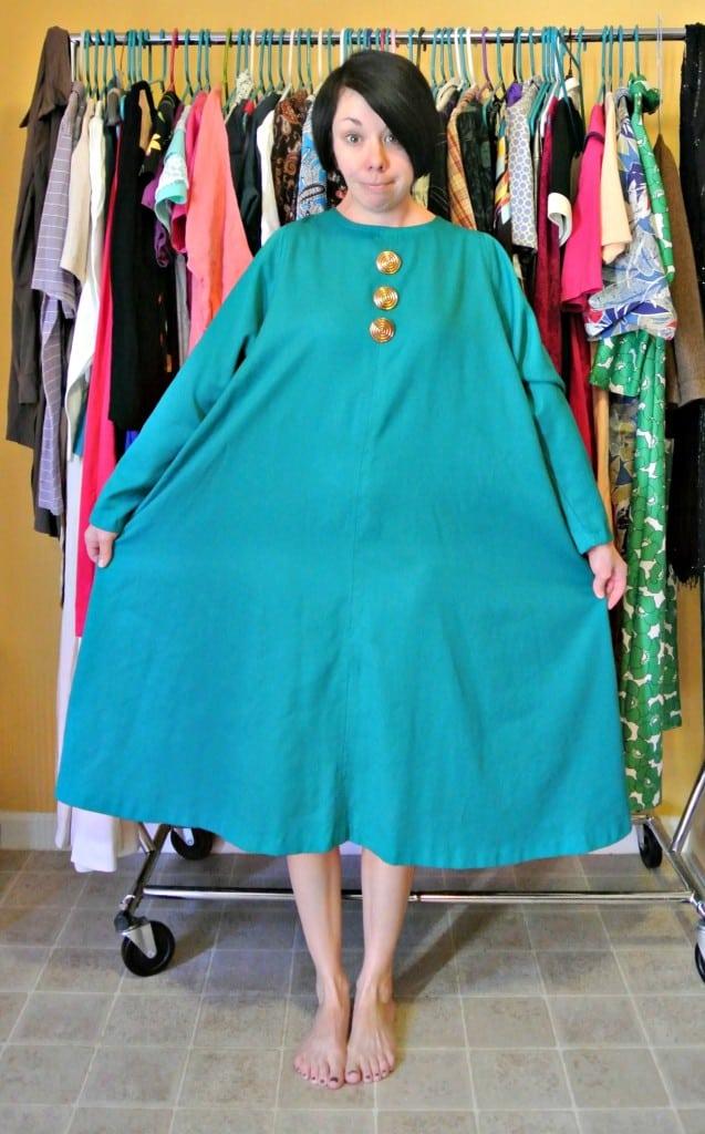 Refashionista Mod-Inspired Brunch Dress Refashion Before