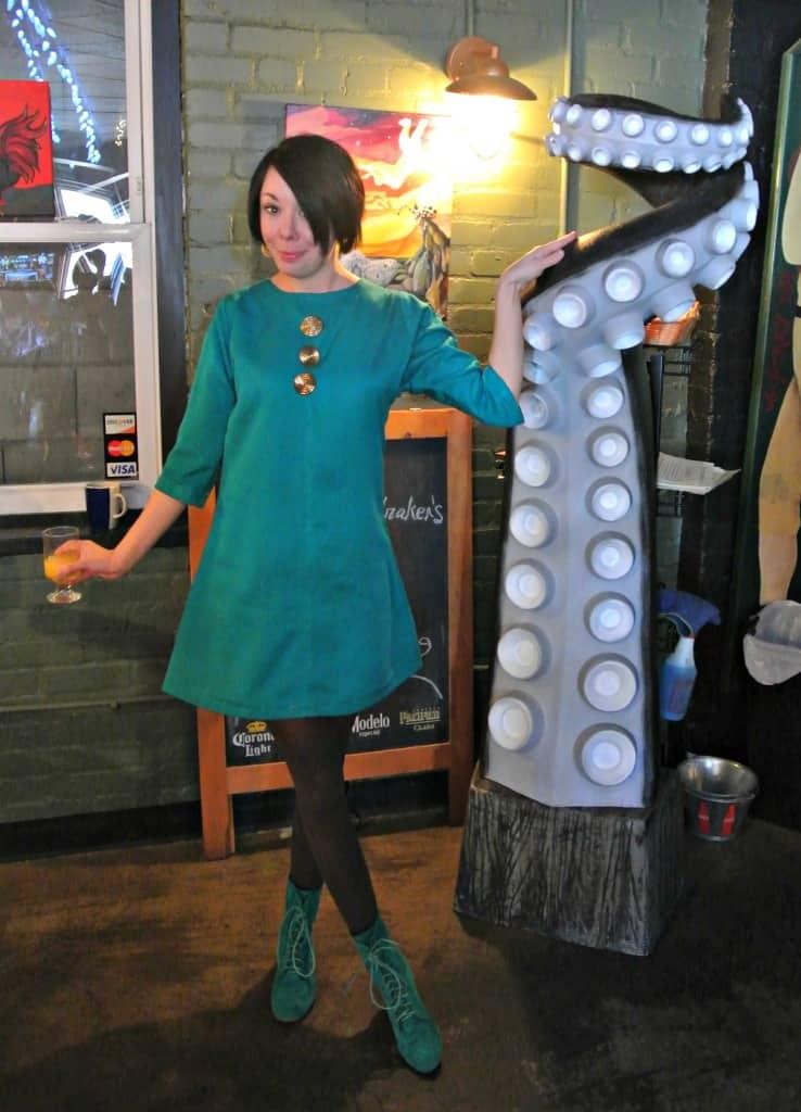refashionista Mod-Inspired Brunch Dress Refashion after