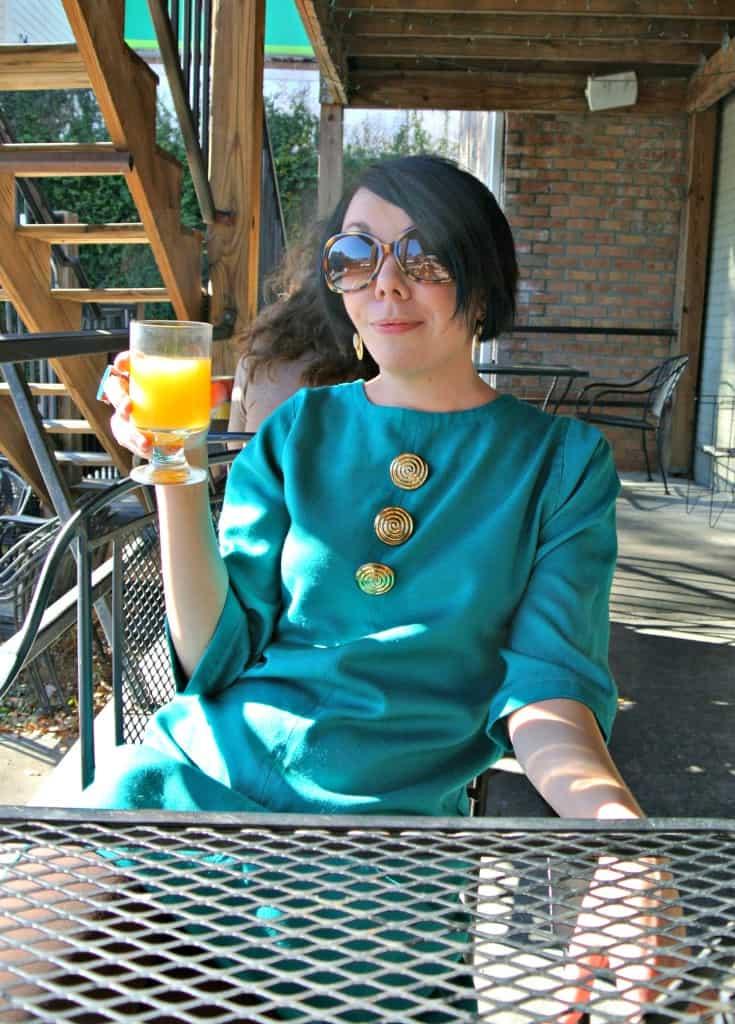 Jillian with mimosa
