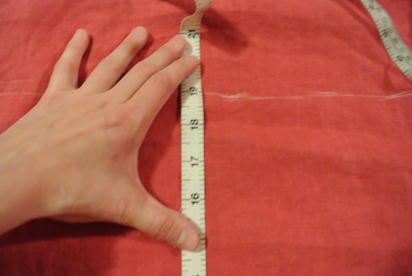 measuring waist for dress