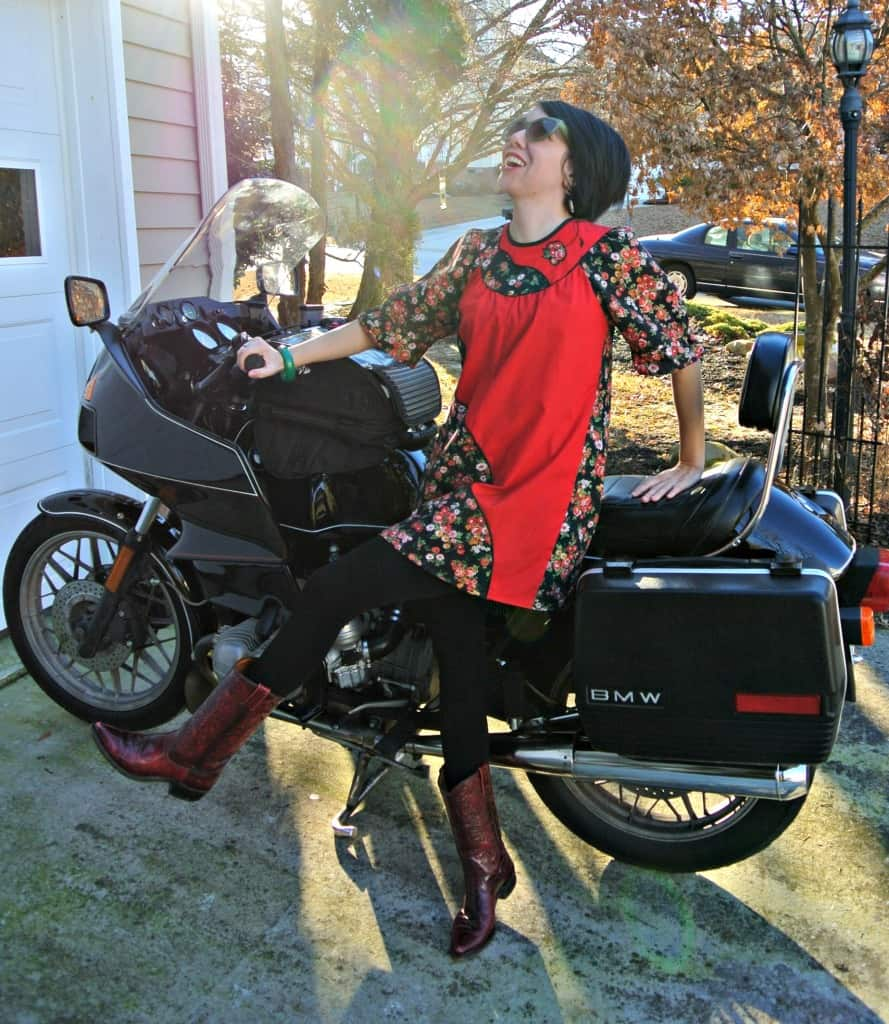 Muumuu Refashion with motorcycle