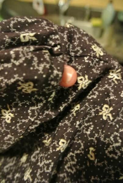 holes in seam of dress