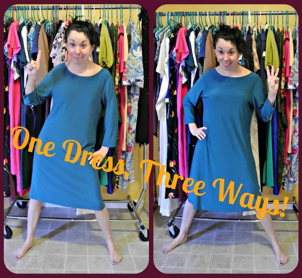 Refashionista One Dress Three Ways Before