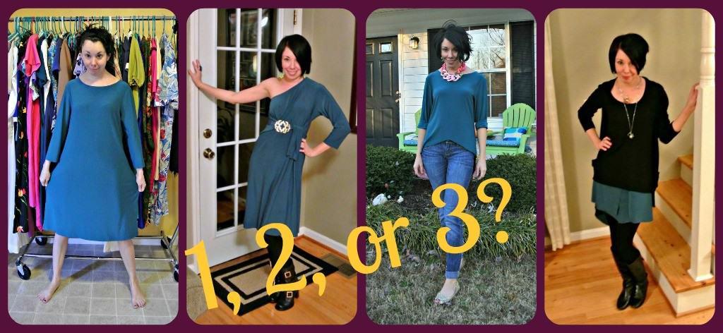 One Dress Three ways refashions