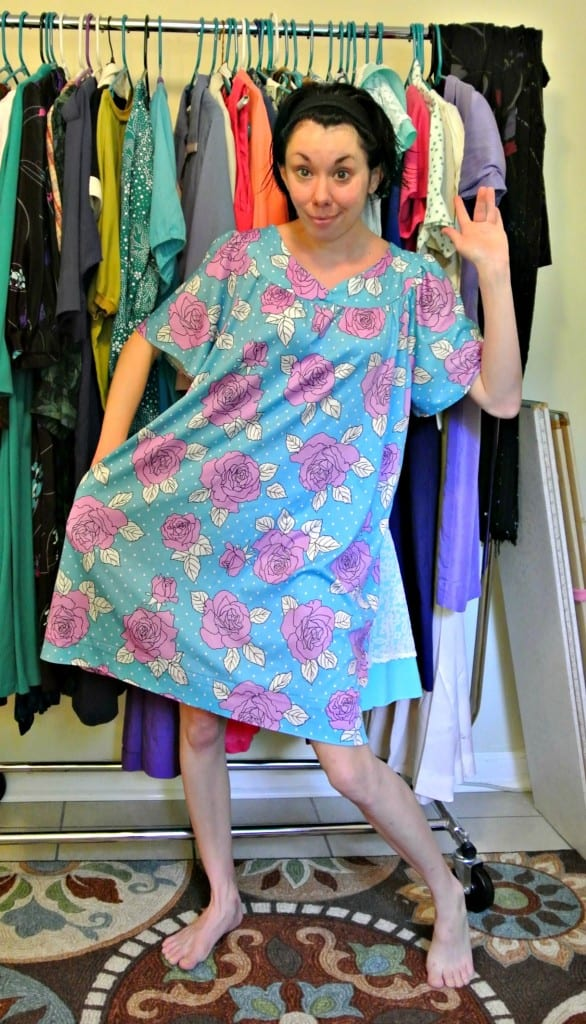 Muumuu to Fitted Dress Refashion after