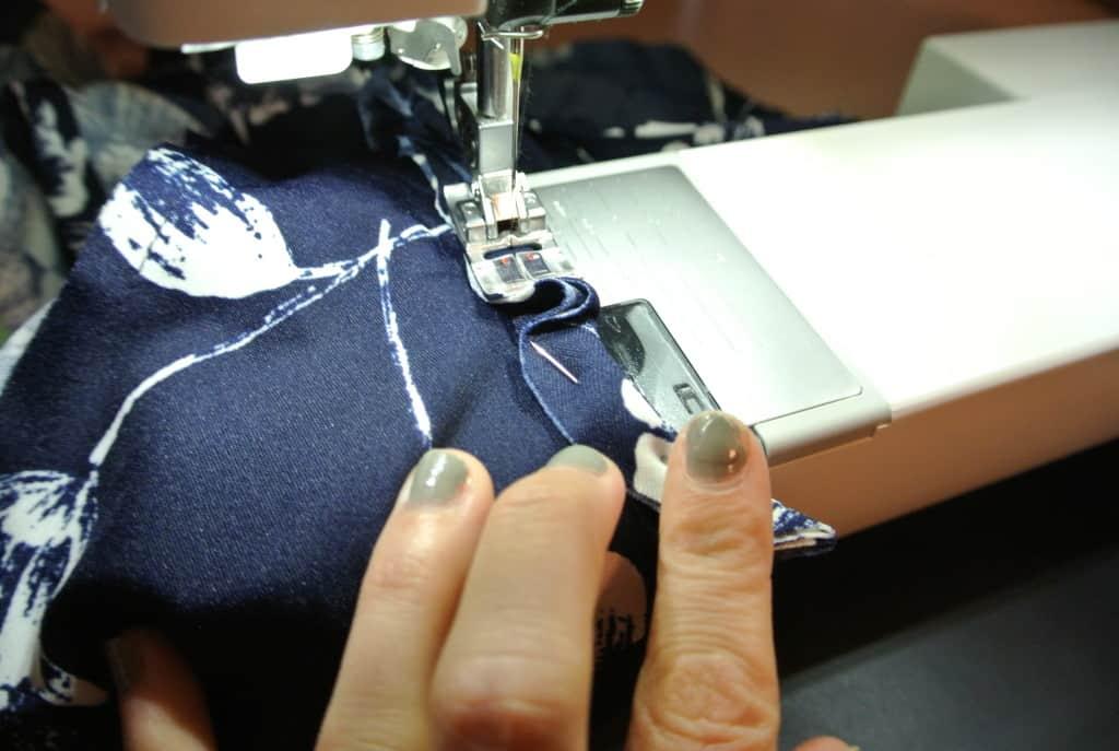 dress on sewing machine
