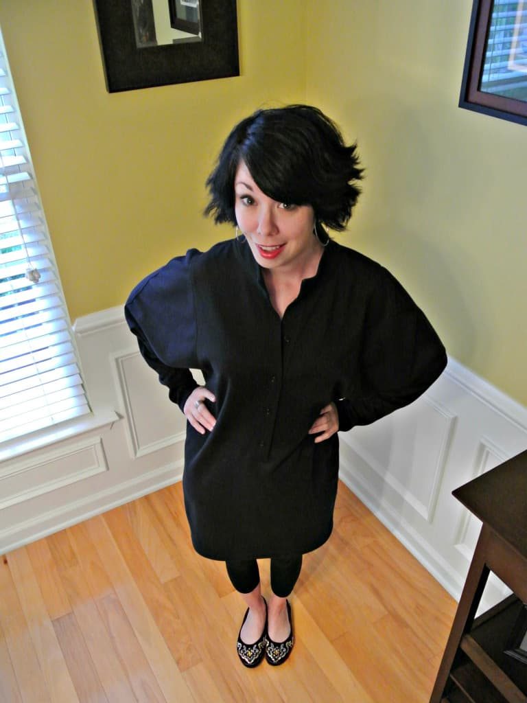 refashionista DIY Tunic Dress After from above