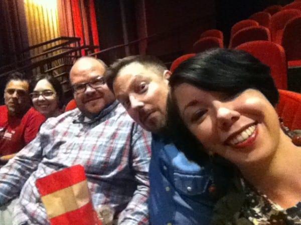 Happy theatergoers!