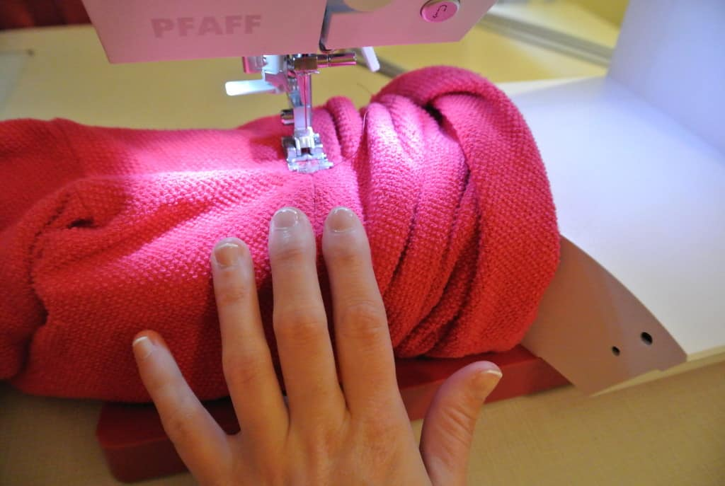 sewing in new sleeves