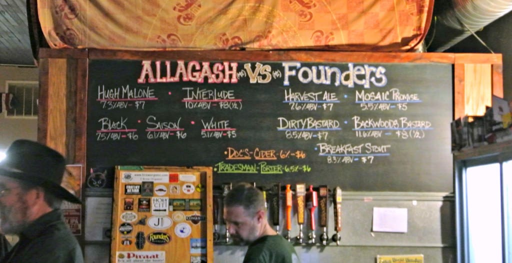 Allagash Vs. Founders sign