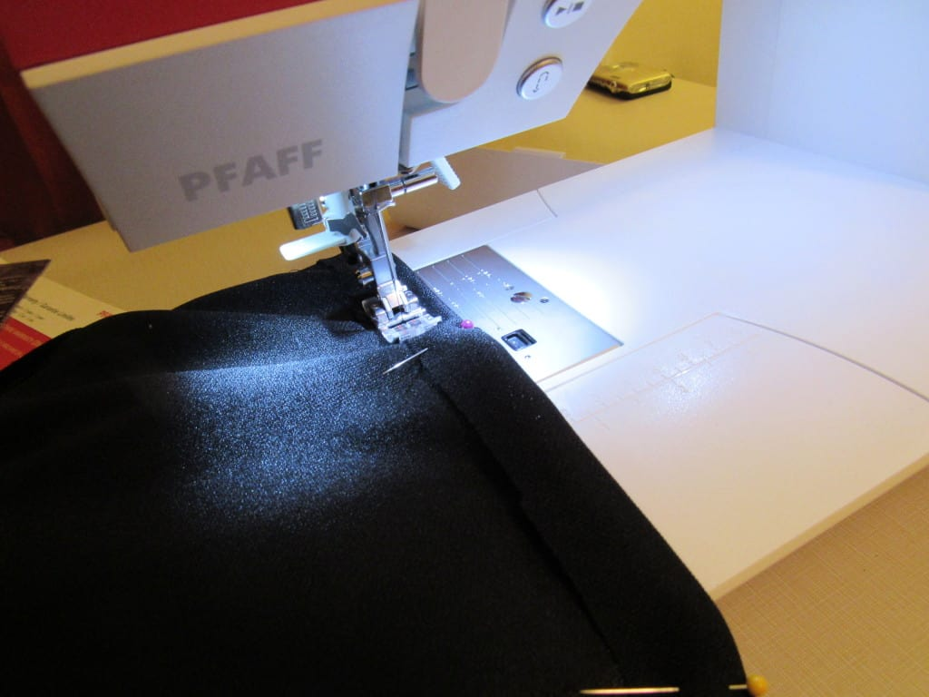 sewing new hem