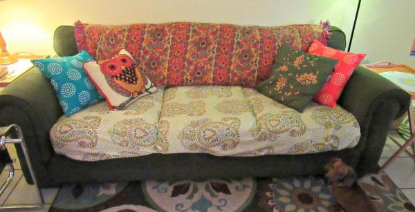 Cheapest makeshift upholstery job you'll ever do!