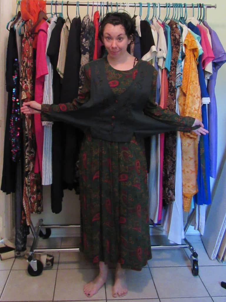 One Dress, Three Ways: Fake Vest Edition 1