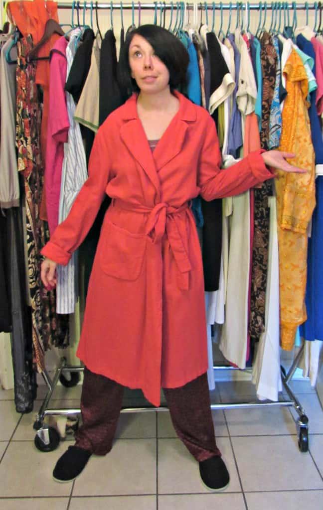 refashionista vintage bathrobe refashion before
