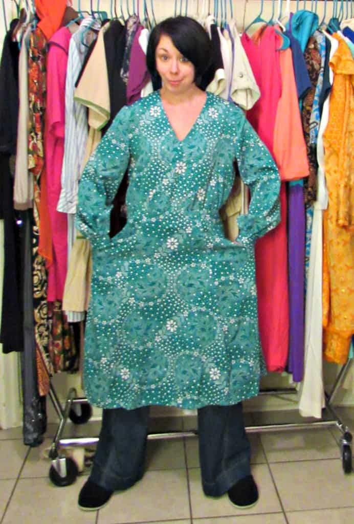 dress to top refashion before