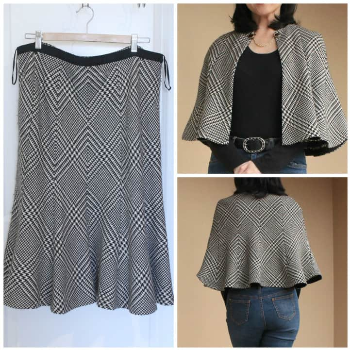 Melissa's Skirt to Capelet Reader ReFash 1