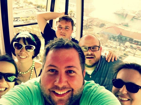 Sky lift selfie on St. Thomas!