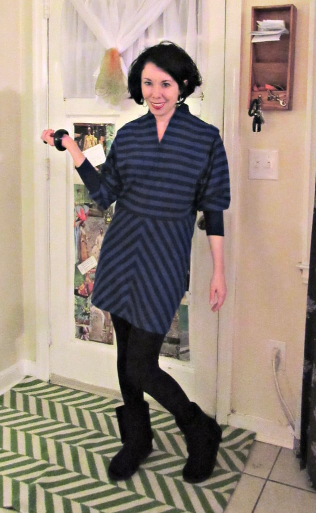 '80s Striped Dress Refashion After