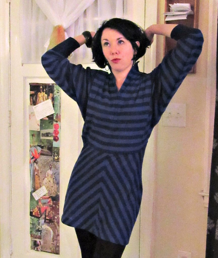 '80s Striped Dress Refashion After funnny look