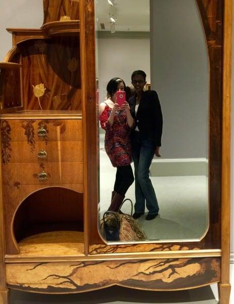 Mirror selfie with a piece from the museum's collection!