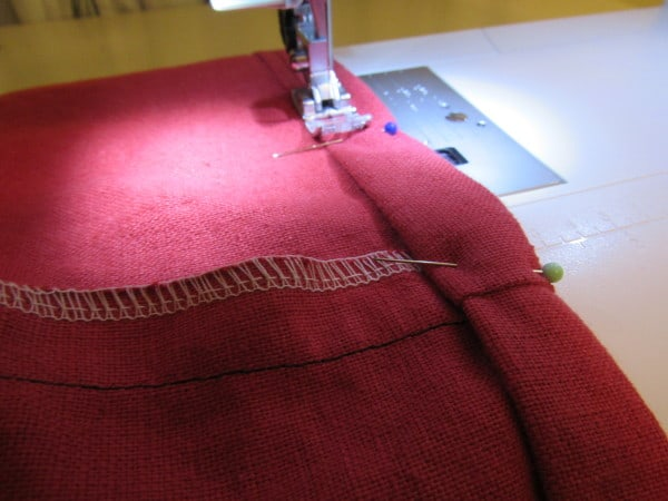 sewing hem for dress