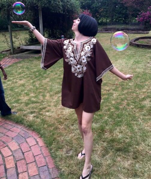 We had bubbles too!