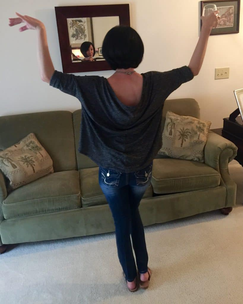 back of skinny jeans