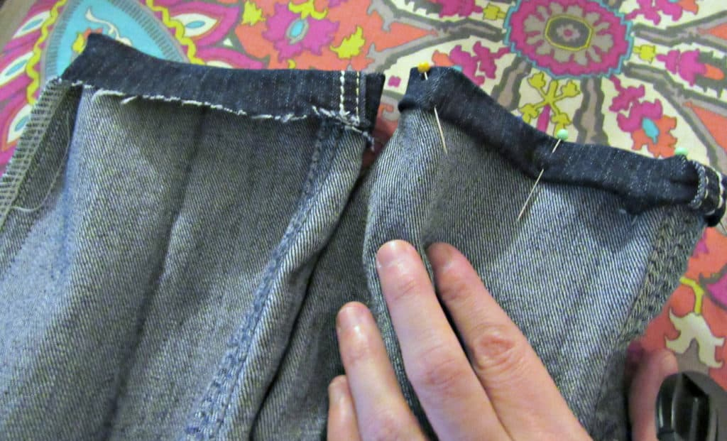pinning bottom hem