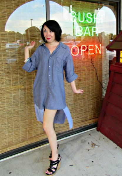A Kylie Jenner-esque Denim Dress Refashion 1