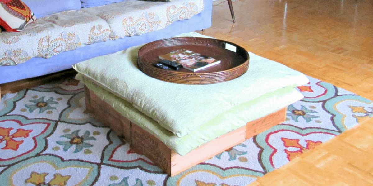 Refashionista diy ottoman