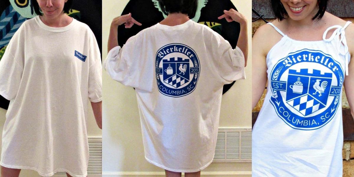Refashionista T-shirt to Drawstring Halter Dress Refashion Feature Image