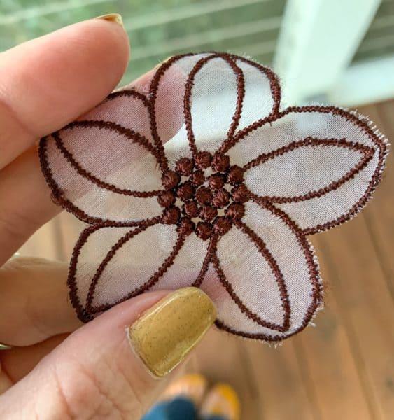 ReFashionista dyed flower