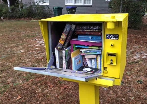 Free Tomes: A Newspaper Box to Little Free Library DIY Upcycle 1