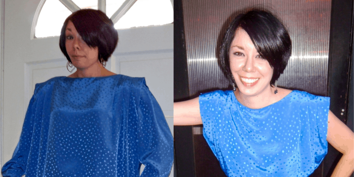 Day 63: Almost Dusk Dress: A Frumpy to Fab Refashion 5
