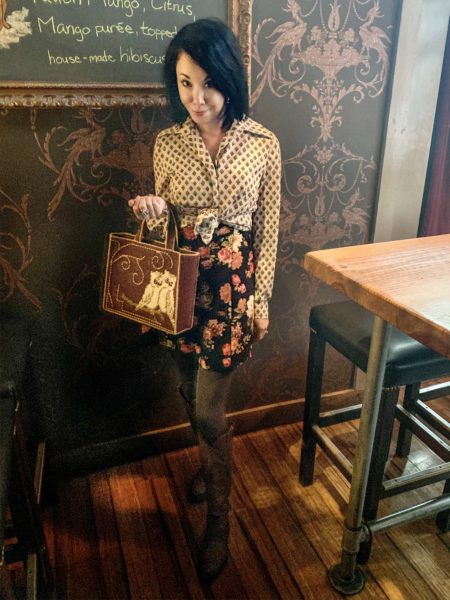 thrift store style refashionista pattern mixing