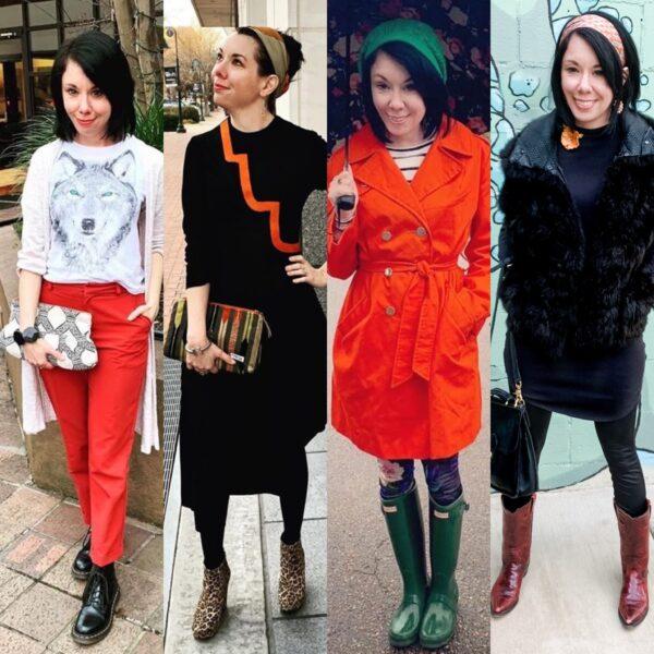 thrift store style refashionista thrift style a pop of orange