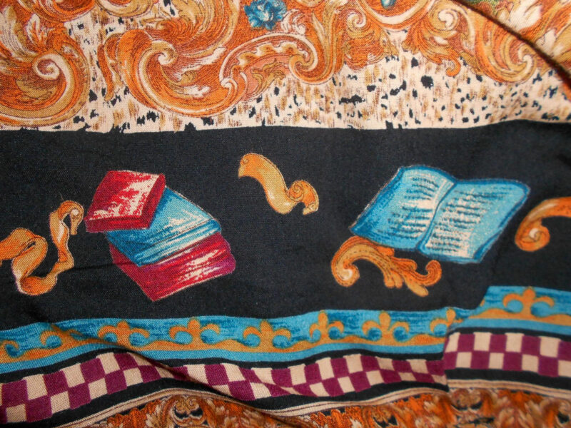 refashionista bibliophile dress to jacket refashion book fabric