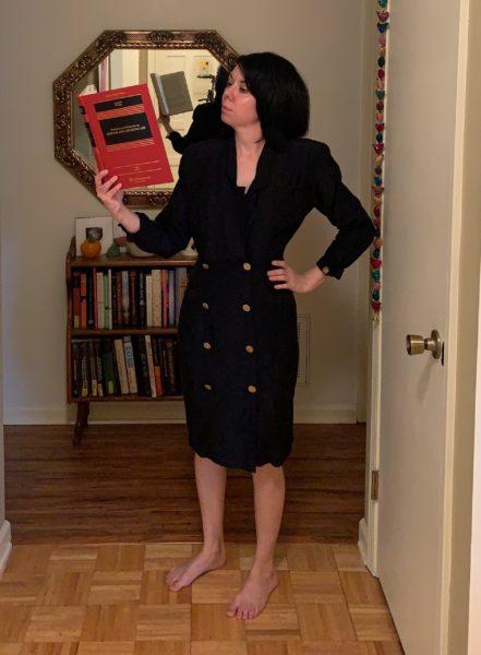 refashionista '80s dress before refashion