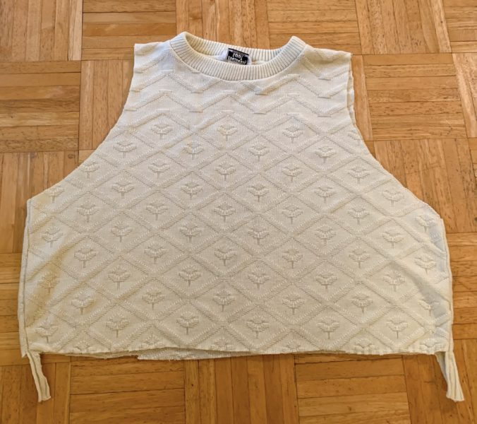 How to Refashion a Sweater Vest into a Sweater 15